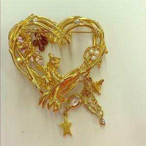 Kirks Folly Fairy Heart Pin